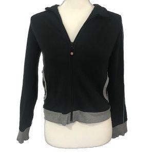 Lululemon Zip Track Sweatshirt Jacket Black & Gray